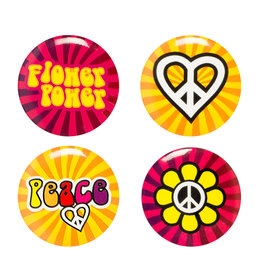 Boland buttons set hippie 4-delig