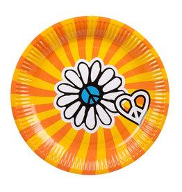 Boland borden hippie stijl 23 cm 6 stuks