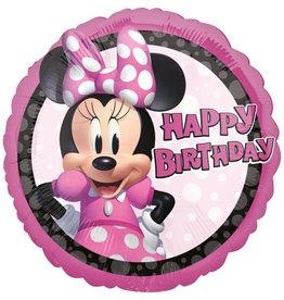 Amscan folieballon Minnie Mouse happy birthday 43 cm