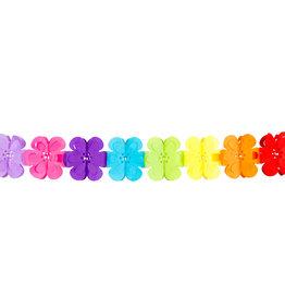 Boland papieren slinger flower power multicolour 4 meter