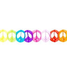 Boland papieren slinger peace multicolour 4 meter