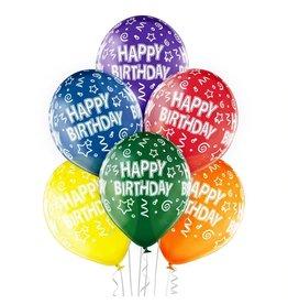 Belbal latex ballonnen happy birthday multicolour 6 stuks
