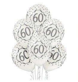 Belbal latex ballonnen 60th Anniversary 6 stuks