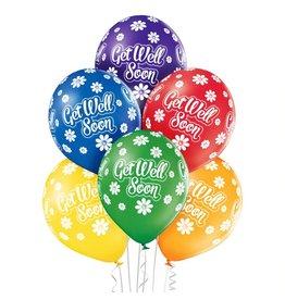 Belbal latex ballonnen get well soon 6 stuks