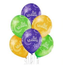 Belbal latex ballonnen Eid mubarak 1 6 stuks
