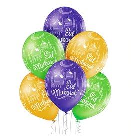 Belbal latex ballonnen Eid mubarak 2 6 stuks