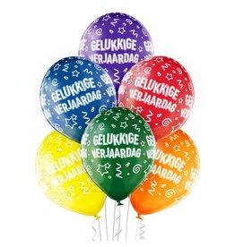 Belbal latex ballonnen gelukkige verjaardag 6 stuks
