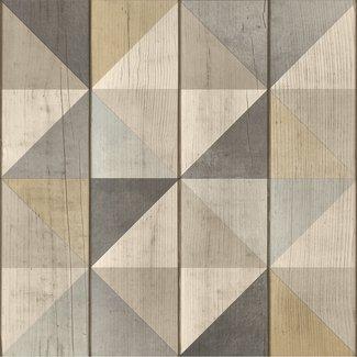 Dutch Wallcoverings Exposure blok/driehoek bruin - EP3101