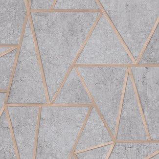 Dutch Wallcoverings Exposure grafisch grijs/zilver - EP3703