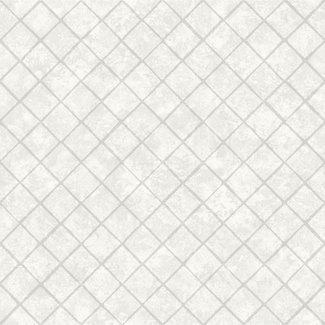 Dutch Wallcoverings Hexagone ruit wit/glitter - L449-00