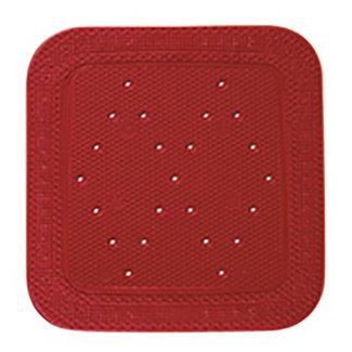 Kleine Wolke Douchemat Calypso rood 55x55cm