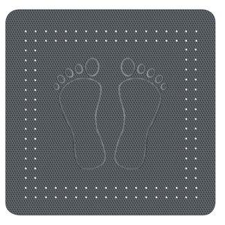 Kleine Wolke Douchemat Foot grijs 55x55cm