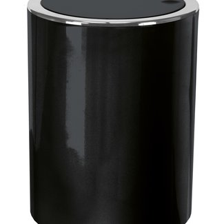 Kleine Wolke Afvalemmer Clap Mini zwart 1,5 ltr