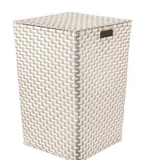 Kleine Wolke Wasmand Double Laundry Box naturel