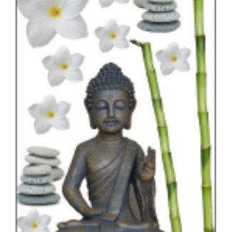 Kleine Wolke Static Deco Buddha taupe 4st.