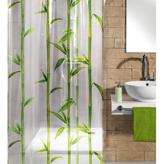 Kleine Wolke Douchegordijn Bambu groen 180x200cm