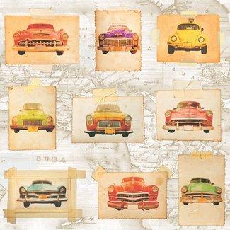Dutch Wallcoverings Schuimvinyl Oldtimer kleur - E742-05