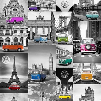Dutch Wallcoverings Freestyle City Campers VW 601541 - E950-11