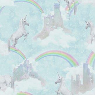 Dutch Wallcoverings Make Believe Unicorns mint - 12481