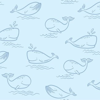 Dutch Wallcoverings Make Believe Whale of a Time blauw - 12520