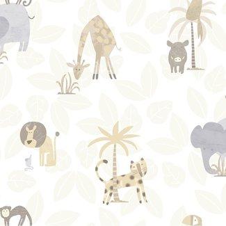 Dutch Wallcoverings Make Believe Jungle Friends beige - 12540