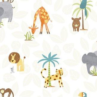 Dutch Wallcoverings Make Believe Jungle Friends multicolor - 12541
