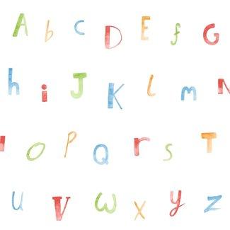 Dutch Wallcoverings Make Believe Alphabet rood/blauw/groen - 12560