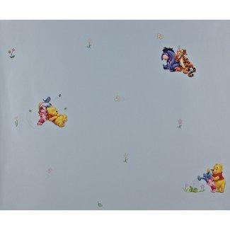 Dutch Wallcoverings Behang Disney Pooh blauw - 1164-5