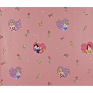 Dutch Wallcoverings Behang Disney Princess roze - 1164-6