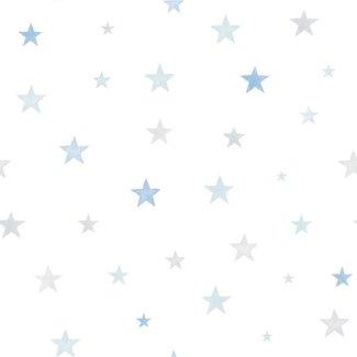 Dutch Wallcoverings Little Ones Stars blauw/grijs - LO2704
