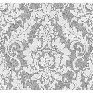 Dutch Wallcoverings Vliesbehang medaillon grijs - 13351-20