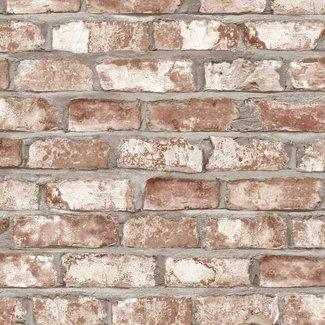 Dutch Wallcoverings Exposed Warehouse baksteen beige - EW3102