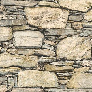 Dutch Wallcoverings Trilogy Stone Wall beige/zwart - 22317