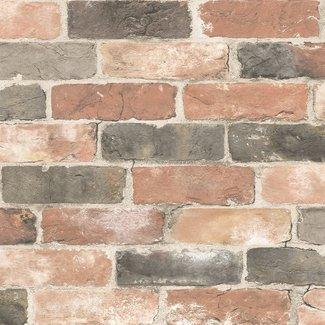Dutch Wallcoverings Trilogy Reclaimed bricks  dusty red  - 22320