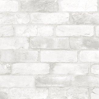 Dutch Wallcoverings Trilogy Reclaimed bricks  white  - 22321