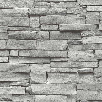 Dutch Wallcoverings Vintage stenen grijs - 17327