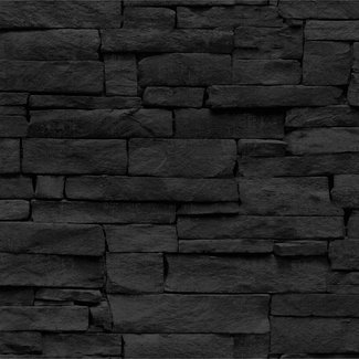 Dutch Wallcoverings Vintage stenen zwart - 17328