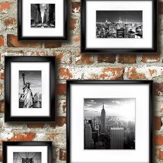 Dutch Wallcoverings Freestyle baksteen/lijstjes NewYork - 102532
