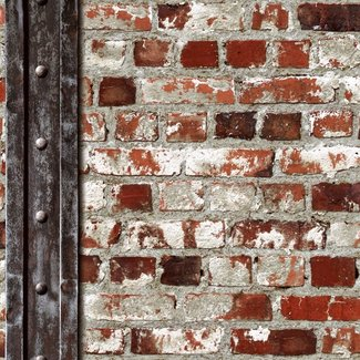 Dutch Wallcoverings Freestyle baksteen/metaal - 102540