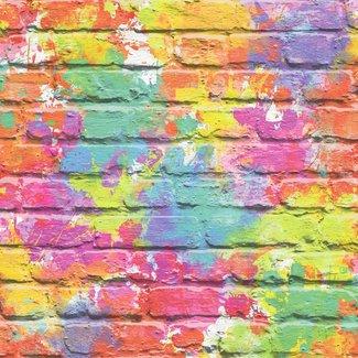 Dutch Wallcoverings Freestyle baksteen/graffiti kleur - L335-05