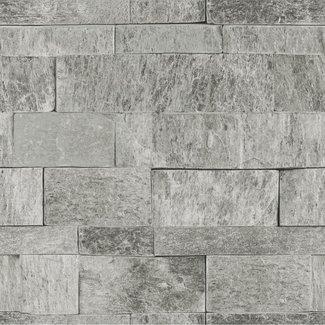 Dutch Wallcoverings Palma steen grijs - 18120