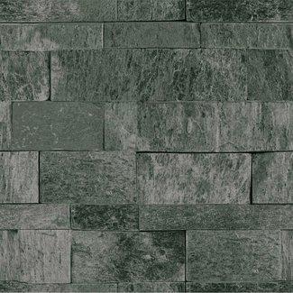 Dutch Wallcoverings Palma steen grijsgroen - 18123