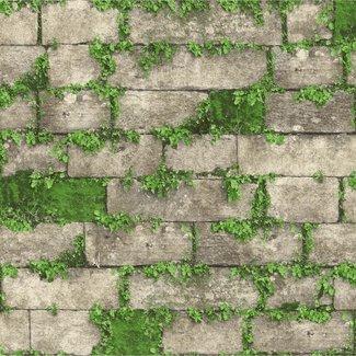 Dutch Wallcoverings Horizons steen beige/groen - L568-08