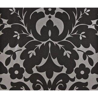 Dutch Wallcoverings Schuimvinyl medaillon zwart/zilver - 6811-7