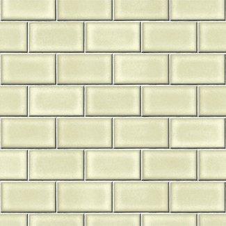 Dutch Wallcoverings Beaux arts 2 brick tile green - BA220103