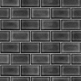 Dutch Wallcoverings Beaux arts 2 brick tile black - BA220108