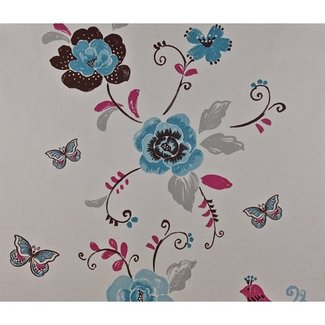 Dutch Wallcoverings Behang vogel turquoise - 1183-5