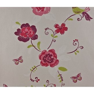 Dutch Wallcoverings Behang vogel roze - 1183-6