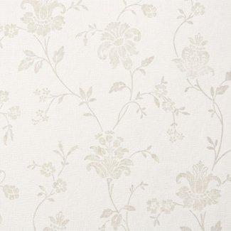 Dutch Wallcoverings Audacia bloem beige/wit - 6450-2
