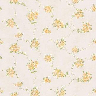 Dutch Wallcoverings Dollhouse 3 Loose Floral geel/blauw - 22170
